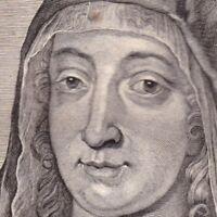 Portrait XVIIIe Gertrude De Saxe Comtesse Régente Hollande Geertruida van Saksen