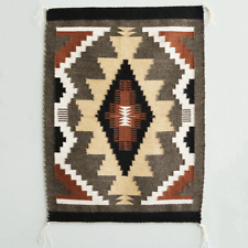 NATIVE AMERICAN NAVAJO RUG BY SHIRLEY LOPEZ NATIVE AMERICAN
