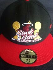 "New Era Miami Heat ""Back to Back Champions"" 2012/2013 Fitted Hat Black 7 5/8"