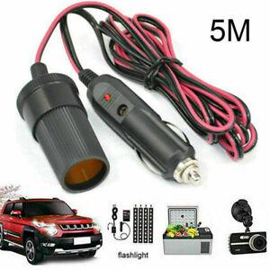 12V-24V Car Cigar Cigarette Lighter Extension Cable Adapter Socket Charger Lead