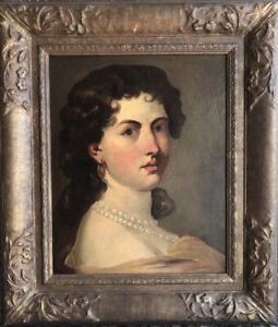 French 19th C Old Master Oil Painting on Canvas, Portrait Ex Richard Feigen OMP