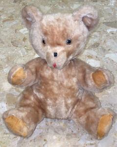 """VINTAGE EDEN 80's BEAR 13"""" PLUSH STUFFED ANIMAL Made In Haiti 0-18 Momths"""