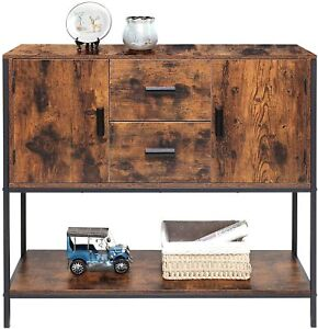 Buffet Sideboard, Wood Storage Cabinet, Console Table With Storage Shelf