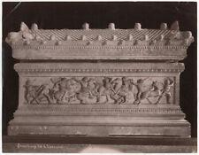 Photo Albuminé Sebah Joaillier Turquie Sarcophage Alexandre Vers 1870/80