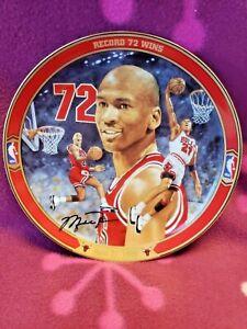 Michael Jordan Record 72 Wins Upper Deck Bradford Collectible Plate, #17198 A