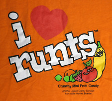 VINTAGE I LOVE RUNTS CANDY T SHIRT WILLIE WONKA XL NEW CONDITION