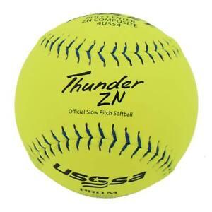 """Dudley Thunder ZN 12"""" PRO M USSSA Slowpitch Softballs (DOZEN): 4U554"""