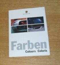 Porsche Exterior Colour Guide Brochure 1999 - Boxster & 911 996