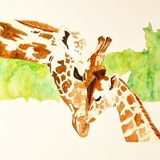 Giraffe - Mother and Child Series Giclée Print