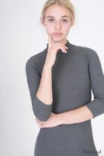 Long sleeve ribbed mock neck midi dress Women Casual basic tee shirt bodycon