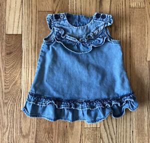INFANT GIRLS HANNA ANDERSSON Jean Dress Size 3-6 MONTHS (60cm)