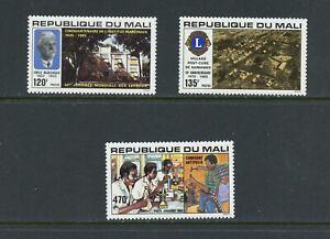 A611  Mali  1985  Health  Polio  Lions Club  3v.      MNH