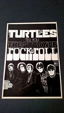 Turtles Tell You The Story Of Rock & Roll. Rare Original Print Promo Poster Ad