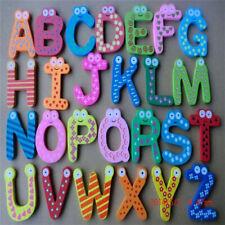 Baby Kid 12pcs a set Educational Wood Toy Cartoon Kitchen Fridge Magnet Gift