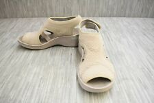 Bzees Dream Wedge Sandals, Women's Size 10W, Beige