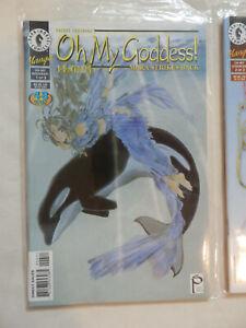 OH MY GODDESS!  Seven (7) Comic Lot  KOSUKE FUJISHIMA 1994 Dark Horse Comics