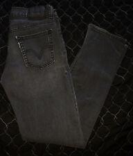 LEVIS 510 Men's Super Skinny Jeans 27x27 Black Gray Geometric Print Stretch
