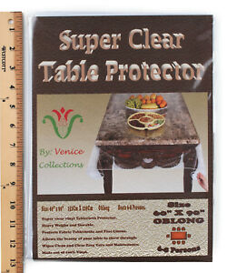 Super Clear Extra Heavy Duty, Durable 100% Vinyl Tablecloth protector & Cover