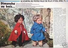 PUBLICITÉ POUPÉES MARIE-FRANÇOISE ET JEAN-MICHEL DIMANCHE AU BOIS