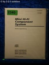 Sony Bedienungsanleitung MHC BX9 /DX9 /BX7 /DX7 BX% /DX5 (#2340)
