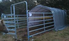 Weidezelt Unterstand Lagerzelt Weidehütte 3,3x6,0x2,6m GRAU ohne Panel extra kau