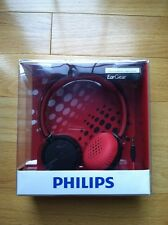Brand New Philips SHL5000/28 Headband Headphones - Black/Red