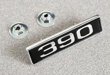 NEW! 1969 Ford Mustang Hood Scoop Emblem Original Type w/ pins & nuts each 390