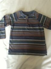 Faded Glory L/S Button Neck Striped Henley for Boys Size 5T