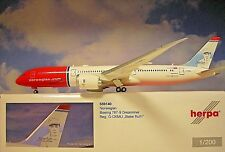 Herpa Ali 1:200 Boeing 787-9 Dreamliner Norvegese G-Ckmu Babe Ruth 559140