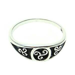 Keltische Triskele Ring 925er Silber Symbol Schmuck - NEU