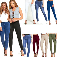 DIVADAMES WOMENS LADIES HIGH WAISTED STRETCH ACID WASH RIPPED SKINNY JEANS