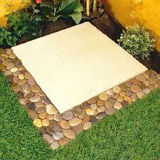 Parkland Pack of 4 Pebble Border Stone Garden Plant Lawn Edging Strips Wall Tile
