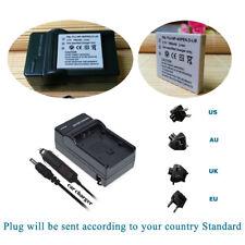 Battery +Charger for Fujifilm NP-40N CGA-S004 D-LI8 NP-1 SLB0837 KLIC-7005