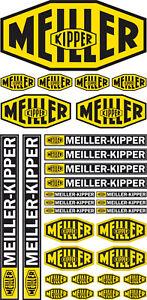 Komplett Set 1:14 - 1:16 Aufkleber MEILLER KIPPER TAMIYA / WEDICO DECAL - RC