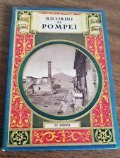 """VINTAGE, """"RICORDO DI POMPEI"""" 32 VEDUTE. POSTCARD/TOURIST MAP BOOK"""