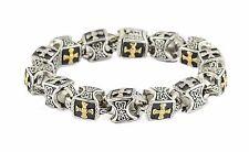 Christian Greek Gold Cross Bracelet Holy Jesus Religious Prayer God US SELLER