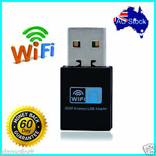 USB WiFi Wireless N 300M Adapter Wi-Fi Dongle High Signal Gain 802.11n/g/b