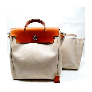 Hermes BackPack Bag  Whites Canvas 1431097