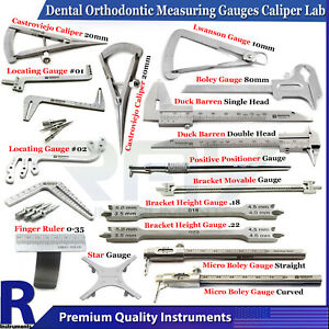 Dental Orthodontic Lwanson Gauge Calipers Lab Measuring Crown Bracket Gauges CE