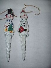 """""""2"""" Ceramic,Resin,Plastic Snowman Icicle Hanging Ornaments""""So Adorable!!""""7"""""""