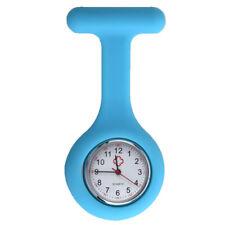 PIN clamp pin Pocket nurse Watch Silicone round Quartz Nurse Watch Blue G7W5