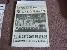 1982 Banik Ostrava  v Glentoran Belfast  UEFA Cup