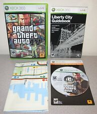 GRAND THEFT AUTO IV XBOX 360 Orig Day 1 1st Print Complete w/Map Rockstar GTA 4