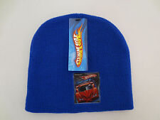 HOT WHEELS BEANIE HAT SKULLY CAP TOBOGGAN YOUTH BOYS CARS TRUCK BLUE MATTEL INC