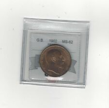 **1902**Great Britain, One Penny, Coin Mart Graded **MS-62**