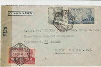 spain  1944 censor stamps cover ref 19324
