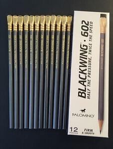 Super Rare Old Stock Palomino Blackwing 602 Pencils Horse Logo Set of 12