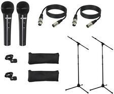 2x LD Systems MICSET1 Mikrofonset mit Mikrofon, Mikrofonstativ, 5m Mikrofonkabel