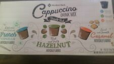 (36) KEURIG CAPPUCCINO VARIETY PACK, CARAMEL, HAZELNUT, VANILLA OFFICES/HOMES