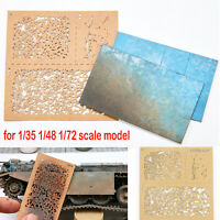 Per 1/35 1/48 1/72 Model DIY Spray Paper Weathering Airbrush Stencils Utensili